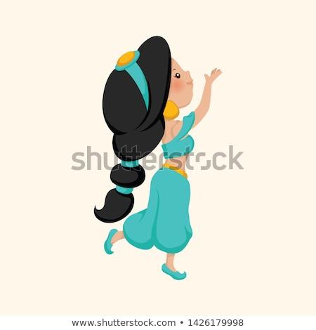 Princess arabski miłości lampy młodych cartoon Zdjęcia stock © Dazdraperma