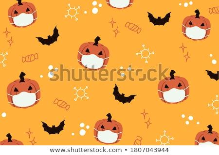 Halloween bat lanterna abóbora assustador Foto stock © Lightsource