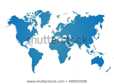azul · blanco · ilustrado · mapa · del · mundo · textura · mapa - foto stock © nicemonkey