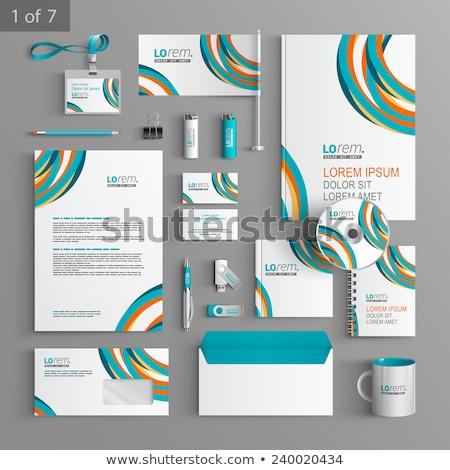 Kreative Kreise Briefkopf Design-Vorlage Vektor abstrakten Stock foto © SArts