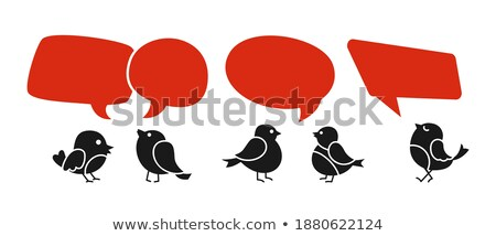 black illustration sale singing bird stock photo © olena