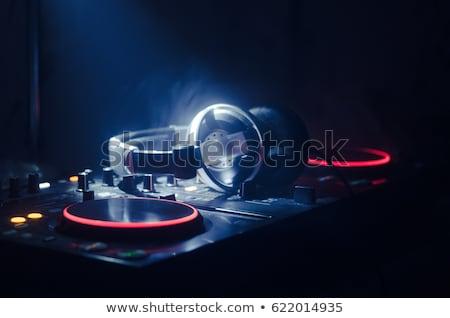 Música vinil forma prato mão ícone Foto stock © Olena