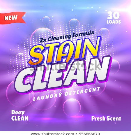 creative laundry detergent product packaging concept template de Stock photo © SArts
