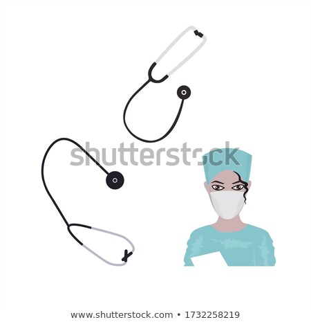 Phonendoscope isolated. Doctor accessory. Medical device. Vector Stock photo © popaukropa