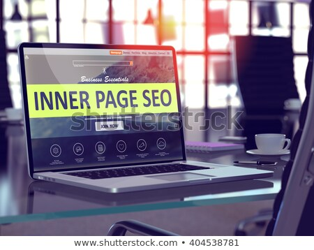 Landing Page of Laptop with Inner Page SEO Concept. 3D. Stock photo © tashatuvango