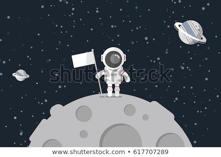 Astronauts standing on the moon Stock photo © bluering