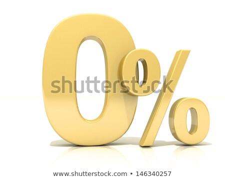 Gold Zero Percent #5 Stock photo © Oakozhan