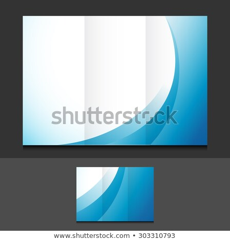business trifold brochure design with colorful wave shape Stock photo © SArts