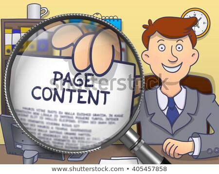 page content through magnifier doodle design stock photo © tashatuvango