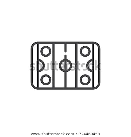 Ice hockey - line design single isolated icon Stock photo © Decorwithme