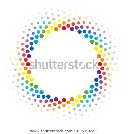rainbow halftone swirl circle frame vector design element stock photo © almagami