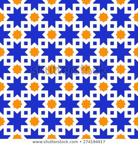 タイル デザイン 幾何学的な シームレス ターコイズ タイル ストックフォト © RedKoala
