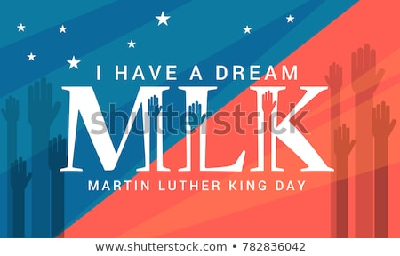 Luther King day icon Stock photo © Olena