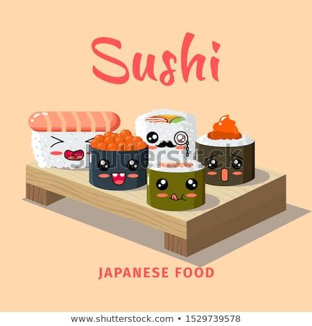 Comida japonesa cartaz ilustração comida ovo fundo Foto stock © bluering