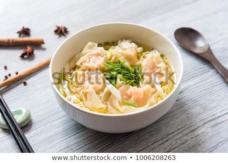Sfondo asian piatto gamberetti buffet Foto d'archivio © M-studio