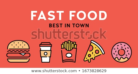 Rua fast-food café conjunto estilo Foto stock © studioworkstock