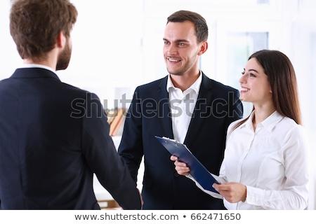 Arabic businessmen contract conclusion in office Stock photo © studioworkstock