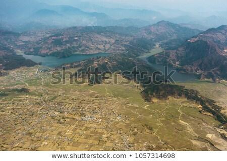 Luchtfoto Nepal water natuur berg meer Stockfoto © dutourdumonde