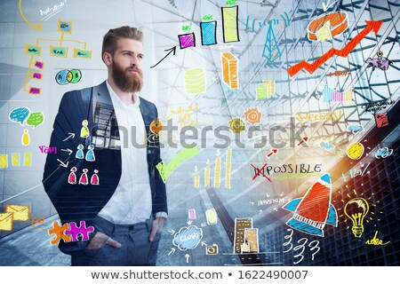 Biznesmen daleko przyszłości innowacja startup Zdjęcia stock © alphaspirit