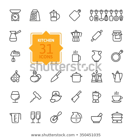 Coffee turk vector line icon. Stock photo © RAStudio