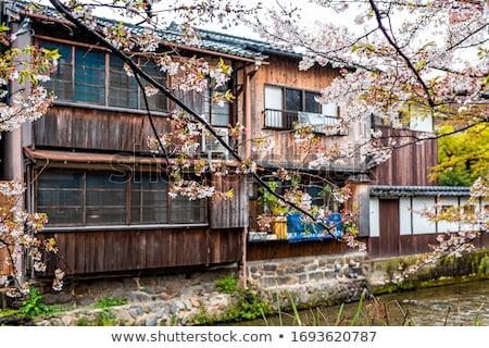 Traditional japanese houses on Shirakawa river, Gion district, K Stock photo © daboost