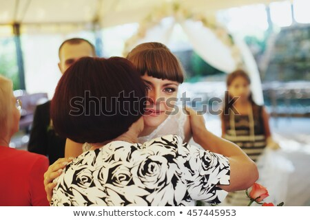 Mother kissing Bride Stock photo © IS2