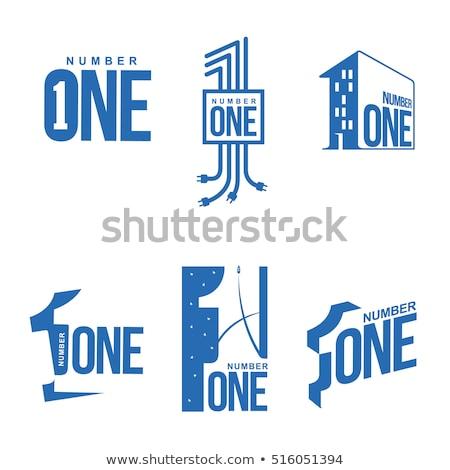 Mavi logo şablon vektör Stok fotoğraf © kyryloff