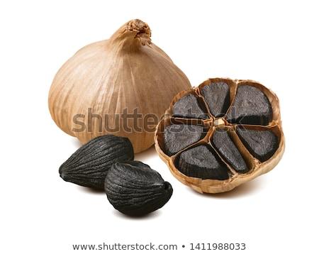 Metà aglio lampadina bianco alimentare fresche Foto d'archivio © Digifoodstock