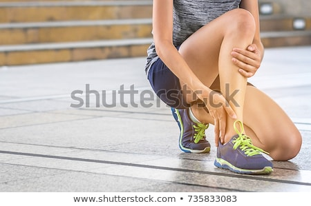 Female foot with ankle pain Stock photo © CsDeli