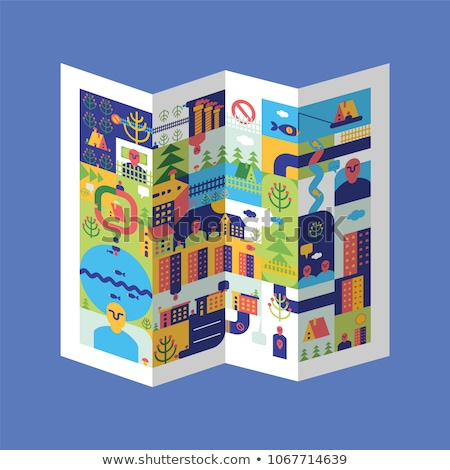 City map. Local card. House and building. Vector illustration Stock photo © popaukropa