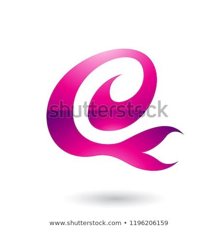 magenta curvy fun letter e vector illustration stock photo © cidepix