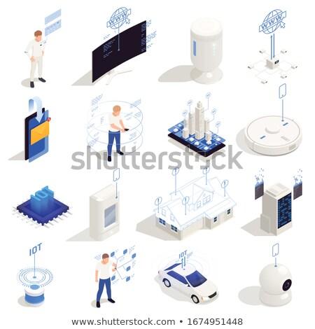 WiFi controlled robotics concept vector isometric illustration. Stock photo © RAStudio