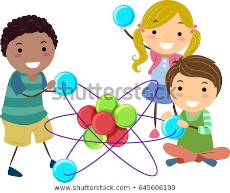 stickman kids atom toy illustration stock photo © lenm