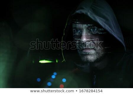 хакер Компьютерный монитор технологий Сток-фото © dolgachov