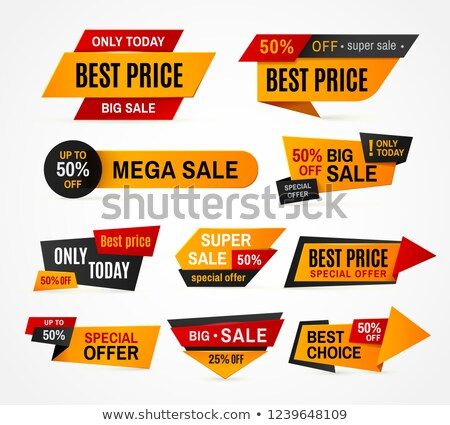Best Choice and Mega Sale Discount Ad Banners Set Stock photo © robuart