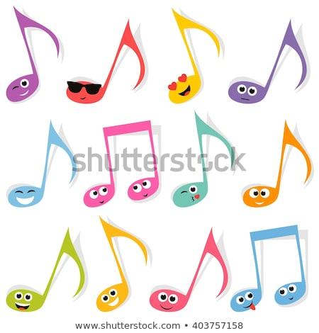 Meglepődött rajz zenei hang illusztráció néz Stock fotó © cthoman