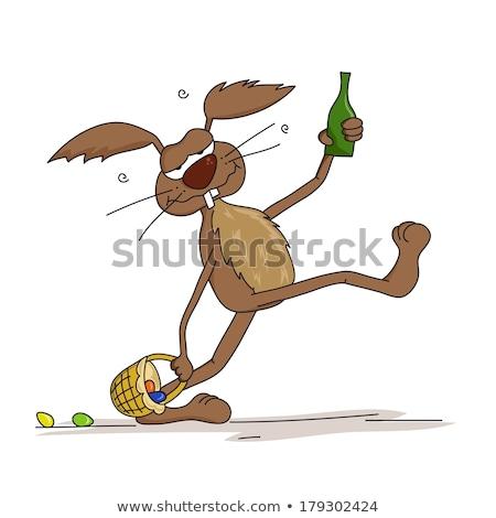 Bu cartoon lapin de Pâques illustration regarder lapin Photo stock © cthoman