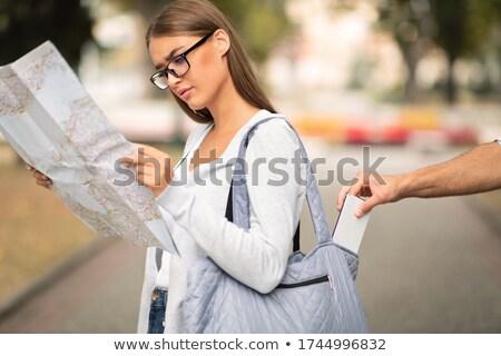 Diefstal straat illustratie achtergrond jonge huilen Stockfoto © bluering