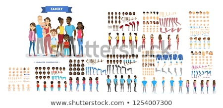 Stok fotoğraf: A Set Of Big Family
