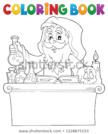 Coloring book alchemist topic 1 Stock photo © clairev