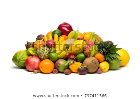 tropical fruit tamarillo with sugar, isolated on white Stock photo © joannawnuk