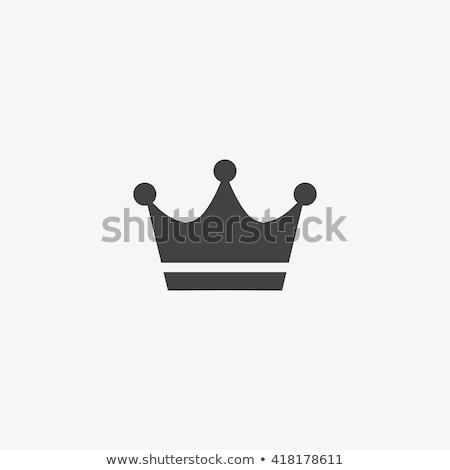 Rei coroa vetor ícone assinar logotipo Foto stock © blaskorizov