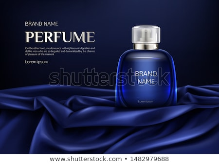 Cosmetic Glass Product Vector. Bottle. Luxury, Fashion. Fragrance, Collagen. 3D Isolated Transparent Stock photo © pikepicture