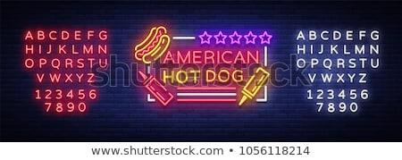 Hot dog icona isolato luminoso banner Foto d'archivio © robuart