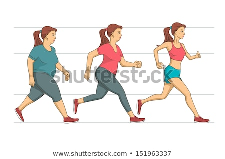 Running Woman Weight Loss Vector Illustration Stock photo © robuart