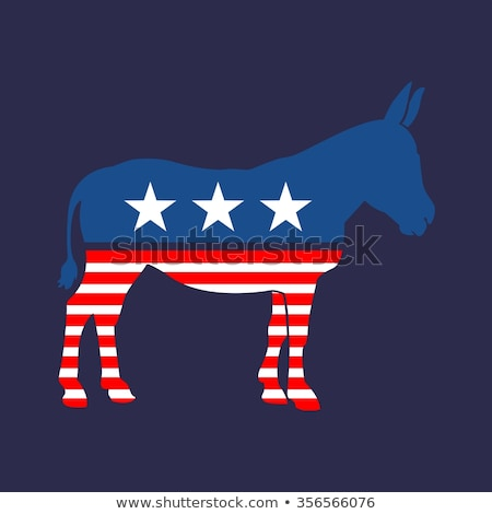 red white and blue democrat donkey stock photo © hittoon