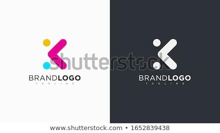 логотип синий Purple икона письме дизайна Сток-фото © blaskorizov