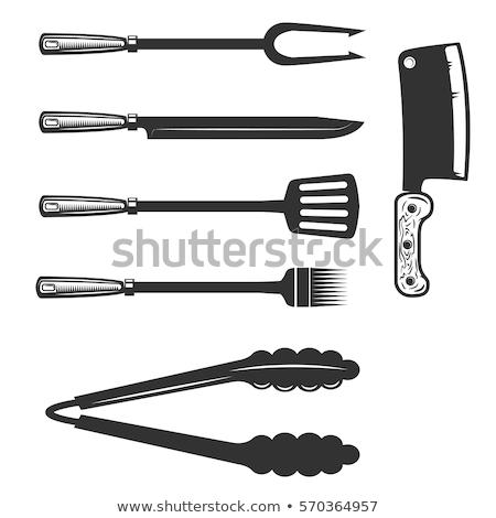 барбекю Допрос инструментом щипцы мяса Сток-фото © robuart