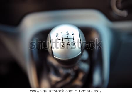 Car interior. manual transmission gear shift. Gray color Stock photo © ruslanshramko