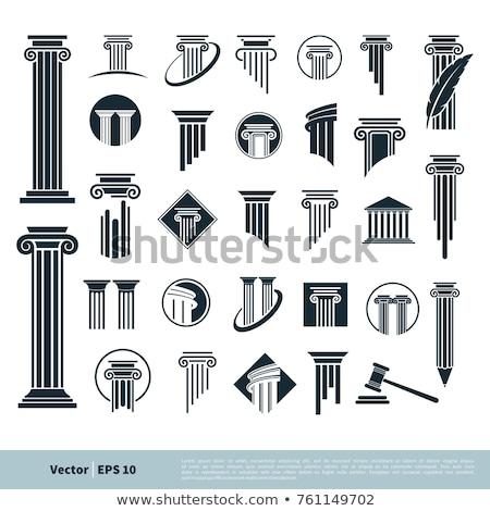 abogado · vector · icono · estilo · icónico · símbolo - foto stock © blaskorizov